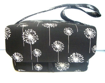 Super Large 6 inch Depth Fabric Coupon Organizer  Budget Organizer - Black Dandelion