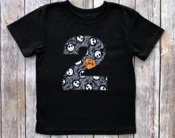 Boys Nightmare Before Christmas 2nd Birthday Shirt 2T