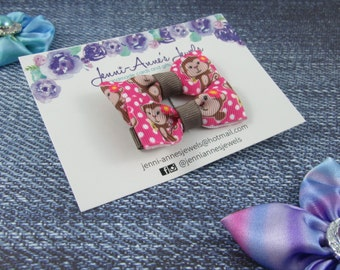 Bow Tie Hair Clip - Set of 2 - Animals