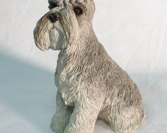 Vintage Sandcast Schnauzer dog figurine 1995 M161 collectible home decor