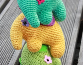 Crochet Elephant PATTERN - PDF Elephant Toy Tutorial - Instant Download - Printable - In English