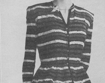 1948 Roman Striped Ribbon Blouse