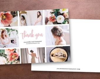 Modèle de carte Merci photographe - photographie de 5 x 7 Merci imprimable - modèle Photoshop - maquette - mariage carte de remerciement imprimable