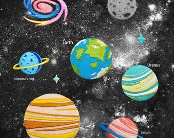 Planet Patch Raum Universum Patch Eisen auf Patch Nähen zurück patch