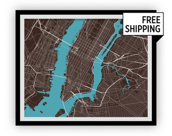 New York Map Print - Choose your color