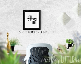 Mockup 8 x 10 Empty Frame Template For Printables SVG Blank Commercial Use PNG Stylized Photo Photography Plants Stock Photo Desktop Desk