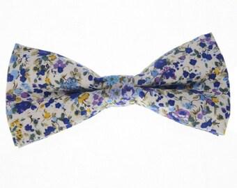 Floral Bowtie.Wedding Bowtie.Mens Fashion.Cotton Floral Prints.Wedding Gifts.Bowtie Gifts.