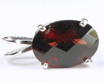 Mozambique Garnet, 925 Sterling Silver Pendant, SP006