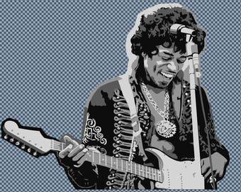 Embroidery Jimi Hendrix music celebrity
