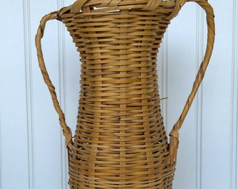 Vintage Urn Style Basket with Handles