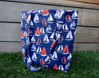 Sail Boats Canvas Tote Bag