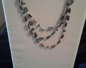 Hand-Made Three-strand Necklace