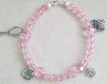 Pink princess bracelet