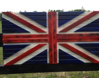 19x36 3D Distressed U.K./ British flag / 3D effect