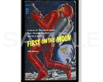FIRST ON THE MOON - Pulp Fridge Magnet
