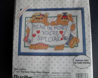 Stitch Embroidery Stitchery Kit New Gallery of Stitches Bucilla Glad We're Neighbors