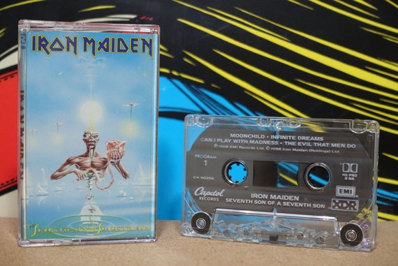 Seventh Son Of A Seventh Son by Iron Maiden Vintage Cassette Tape