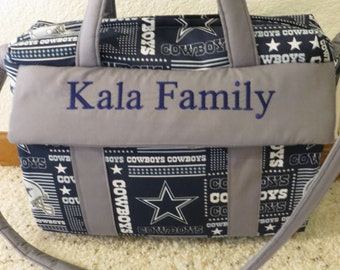 Dallas Cowboys Diaper Bag with changing pad by EMIJANE