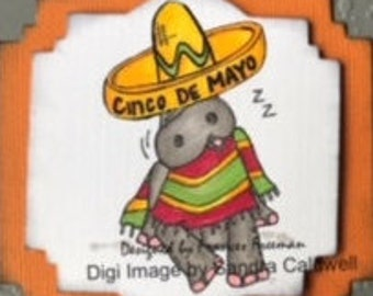 2134  Siesta Hipopotamo Digi Stamp