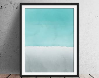 Abstract painting turquoise, Water Color Painting, Abstract Watercolor Print Abstract Water Color, Watercolor Art, DIgital Watercolor