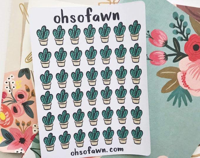 Hand Drawn Cactus Stickers