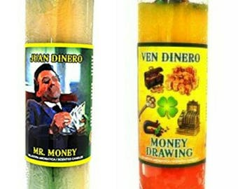 Money Candles, success, prosperity, abundance.