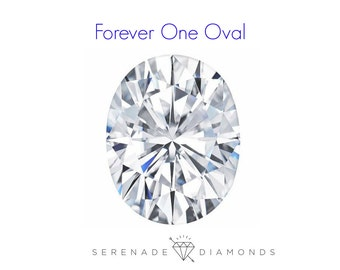 Oval Moissanite Forever One Loose Gemstone Charles and Colvard Lab Grown Gemstone Diamond Alternative Conflict Free