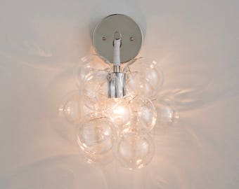 The Nickel Bubble Sconce • Wall Sconce • Hard-Wired Wall Light