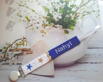 """Pacifier """"Nahyl"""" customization and fabric choice"""