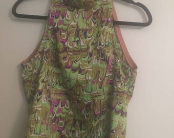 Funky Retro Halter Top