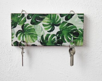 Monstera wall decor key holder for wall tropical wall decor key hook key organizer wall key rack tropical wall decor home gift boho home