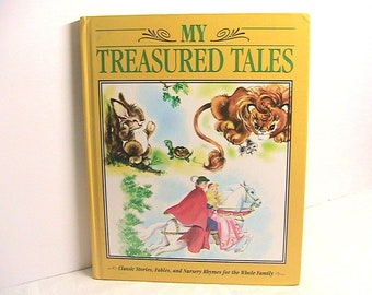 Book, My Treasured Tales Book,  Children's Reading Book, Stories, Fables, Nursery Rhymes for Children