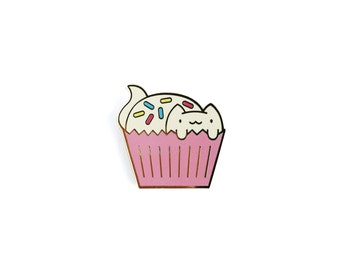 CatCake with Sprinkles • Hard Enamel Lapel Pin