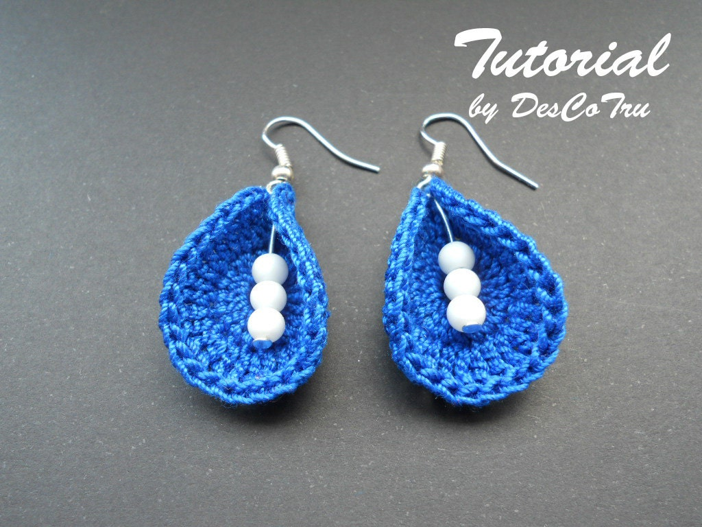 Crochet earrings with beads tutorial do it yourself make zoom solutioingenieria Images
