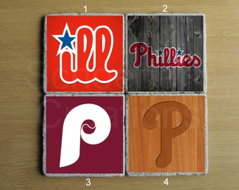 Philadelphia Phillies Stone Coaster - Set of 4
