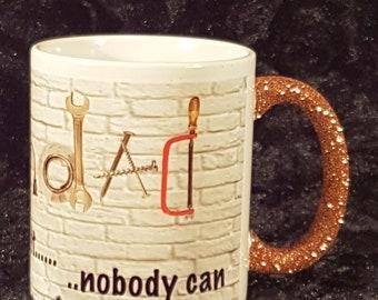 if grandad can't fix it nobody can glitter handle mug