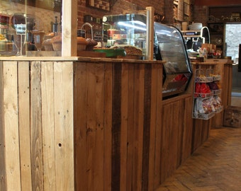 Bespoke Reception Bar Counter Reclaimed Rustic Industrial Hairdressers Restaurants Counter Coffee Shop Counter Service Counter Cafe Counter
