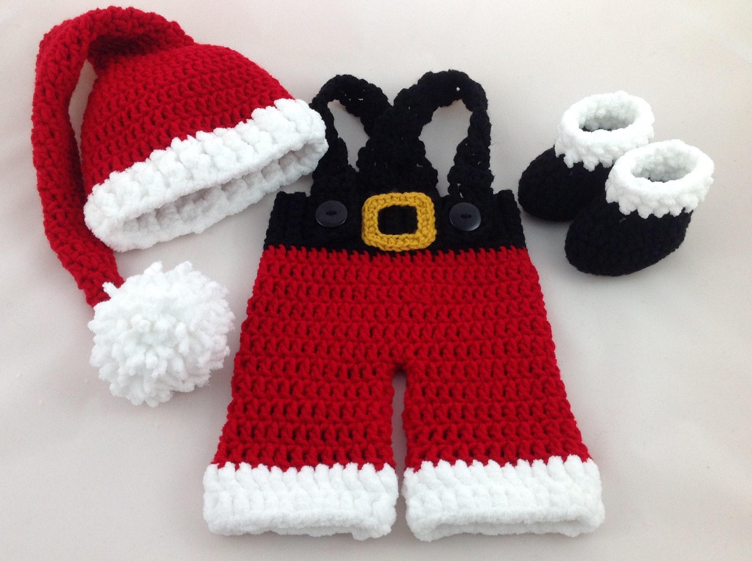 Baby Santa Outfit Christmas Baby Outfit Newborn Santa