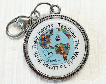 Autism Awareness Keychain/Motivational Message