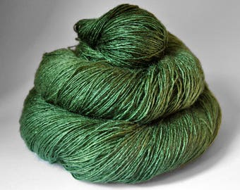 St. Patrick's day parade gone awry - Tussah Silk Lace Yarn