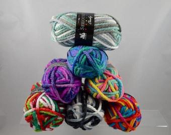 Seriously Chunky Prints 100% Acrylic Yarn 100g
