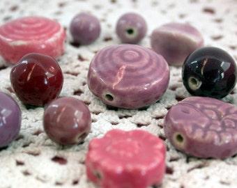 Last Lot ~ Porcelain Beads, Porcelain Bead Mixes, Bead Mixes POR-010