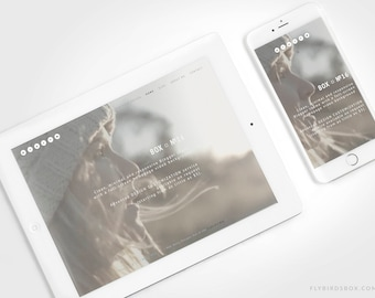 Minimal Blogger Template with a Video Background ⊡ Box No16 ⊳ Pre-made Responsive Blogger Theme