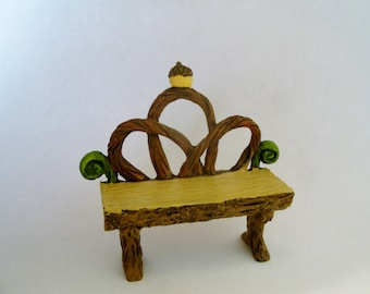 Fairy Bench - Fairy Garden - Fairy Furniture - Woodland - Nature - Miniature Gardening - Craft Supply
