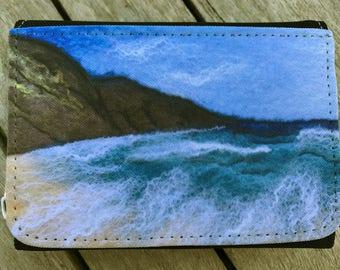 Purse from original textile artwork HOPE COVE