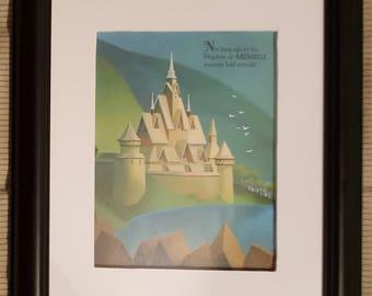 Arendelle Castle - Frozen - Disney - Aproximaitely 6 x 8 inches