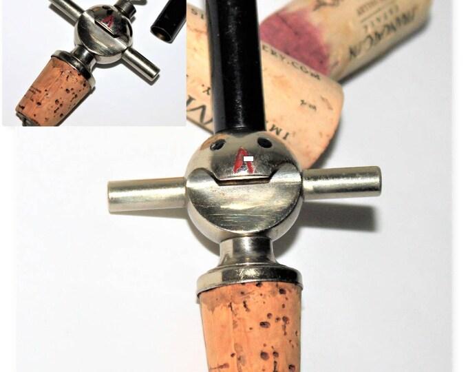 1930s Jolly Old Topper Snowman Bottle Stopper with Hidden Corkscrew, Bottle Opener