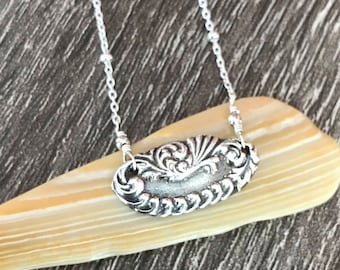 Fine Silver Sterling Silver Necklace / Fine Silver Pendant / 999 Silver Necklace / PMC Necklace