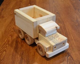 Handmade Wooden Dump Truck, Wooden Truck #2