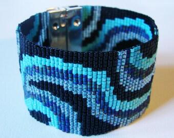 Large Atlantic Ocean Bracelet - Miyuki glass beads